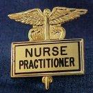 Nurse Practitioner Gold Inlaid Pin Caduceus 3517G New