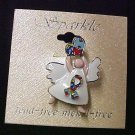 Autism Awareness Angel Heart Ribbon Puzzle Support Lapel Pin Lead Free New