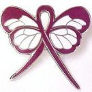 Hospice Care Awareness Burgundy Ribbon Butterfly Lapel Pin Exclusive New