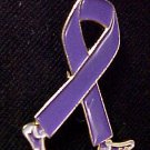 Relay for Life Walking Ribbon Purple Legs Pin Tac New