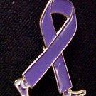 Relay for Life Walking Ribbon Purple Legs Pin Tac New