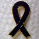 Black Ribbon Melanoma Funeral Memory POW MIA Pin New
