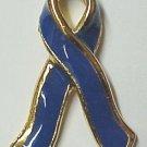 Blue Ribbon Colon Cancer Awareness Lapel Pin Tac New