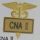 New CNA II Nurse Gold Inlaid Lapel Pin Caduceus 3514G