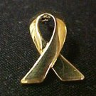 Gold Awareness Ribbon Childhood Child Cancer Pin New S