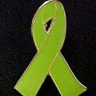 Non-Hodgkin's Lymphoma Lime Green Awareness Ribbon Pin