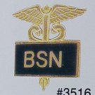 New BSN Nurse Nursing Emblem Inlaid Lapel Pin 3516B
