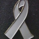 Mental Illness Awareness Gray Ribbon Lapel Pin New