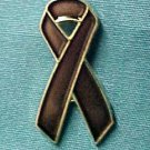 Brown Awareness No Smoking Anti Tobacco Ribbon Pin New