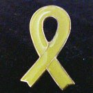 Yellow Awareness Ribbon Troops Liver Cancer Lapel Pin