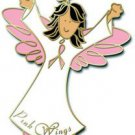 Breast Cancer Awareness Pink Ribbon Angel Brown Pin New