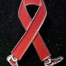 Congestive Heart Failure Awareness February Red Ribbon Walking Legs Lapel Pin