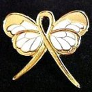 Breast Feeding Awareness Month August Gold Ribbon Butterfly Lapel Pin Exclusive