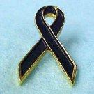 Black Awareness Ribbon Melanoma Funeral Pin New