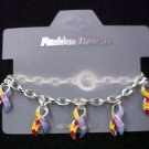 Autism Aspergers Puzzle Awareness Toggle Bracelet NIB