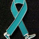 Ovarian Cancer Awareness Month September Teal Ribbon Walking Legs Lapel Pin New
