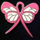 Breast Cancer Awareness Month October Pink Ribbon Butterfly Pin Exclusive New