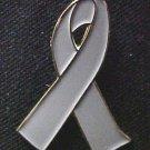 Brain Cancer Awareness Gray Ribbon Lapel Pin Tac New