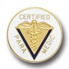 Certified Paramedic Caduceus Medical Emblem Pin 5014