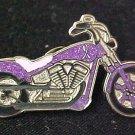 Alzheimer's Awareness Ribbon Motorcycle Biker Pin New