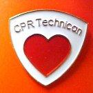 CPR Technician Lapel Pin Tech Medical Emblem Red Heart EMT EMS New