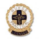 LPN Lapel Pin Licensed Practical Nurse Wreath Blue Emblem