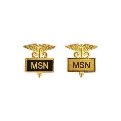 MSN Pin Master of Science in Nursing Inlaid Framed Caduceus 2 Colors 3515 New