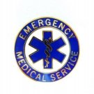 EMS Collar Pin Device Emergency Medical Service Blue Gold Star of Life 54G2 New