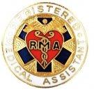 Registered Medical Assistant Pin RMA Emblem Heart Caduceus Graduation Medical