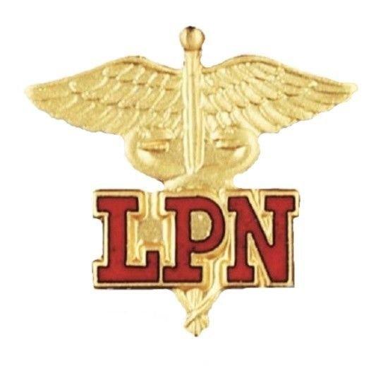 LPN Lapel Pin Licensed Practical Nurse Nursing  Medical Emblem Caduceus 1023 New