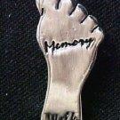 Memory Walk Lapel Pin Alzheimer's Awareness Engraved Foot Cap Tac Lead Free New