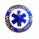 EMT Lapel Pin Emergency Medical Technician Blue Cap Tac Gold Star of Life 58G1