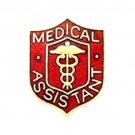 Medical Assistant Pin Medical Emblem Red Crest Graduation Recognition 818 New