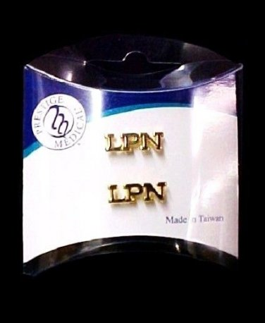 LPN Lapel Pin Tac Set of 2 Licensed Practical Nurse Medical Cap Pins New