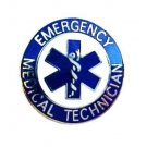 EMT Lapel Pin Emergency Medical Technician Blue Star of Life 58S 1M Silver New