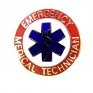 EMT Collar Pin Device Emergency Medical Technician Star of Life 59S2 Red Silver