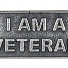 I Am A Veteran Lapel Pin Tac Pewter Support Proud Military Vets New