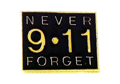 9-11 Never Forget Lapel Pin Tac September Terrorist Support Remembrance Pins New