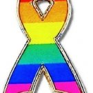 Gay Pride Lapel Pin Tac Rainbow Awareness Ribbon New