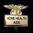 Home Health Aide Pin Caduceus Gold Plate 3529G Professional Medical Pins New