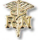 RN Caduceus Lapel Pin Set of 2 Registered Nurse Graduation Ceremony Cap Tacs