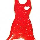 Go Red Dress Pin For Women's Heart Disease Awareness February Support Women New