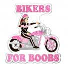 Breast Cancer Lapel Pin Bikers For Boobs Motorcycle Bike Ride Cure Pink Ribbon