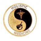 Holistic Medicine Pin Caduceus Medical Emblem AHMA Alternative Medicine Pins New