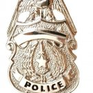 Police Officer Tie Tac Badge Eagle Top Shield Nickel Plated Policeman P3601 New