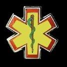 Star Of Life Lapel Pin Yellow EMT EMS Cap Badge Lanyard Tac Tacks Serpent New