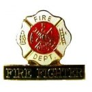 Fire Fighter Maltese Cross Pin Lapel Cap Pins Tack Promotional Fireman New