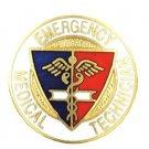 EMT Pin Emergency Medical Technician Shield Caduceus Medical Emblem Pin New