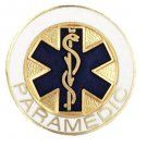 Paramedic Lapel Pin Blue Star of Life Medical Graduation Recognition Pins New