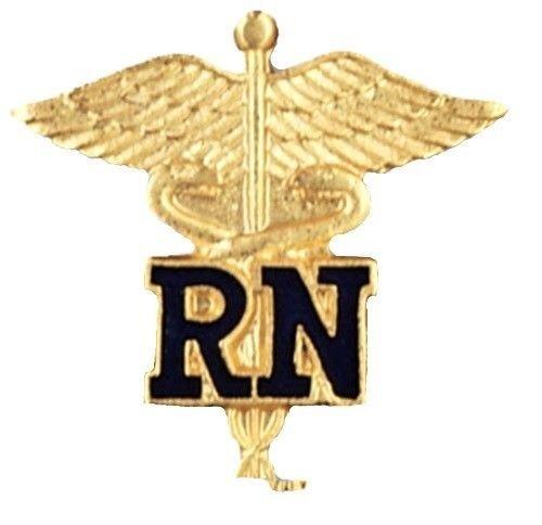 RN Caduceus Lapel Pin Registered Nurse Graduation Nursing Class Pins 1021 New